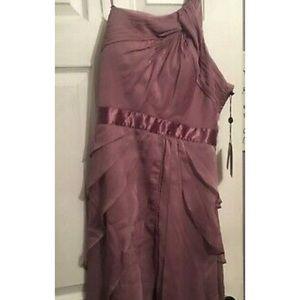 Bnwt Adrianne Papell dress purple chiffon size 14